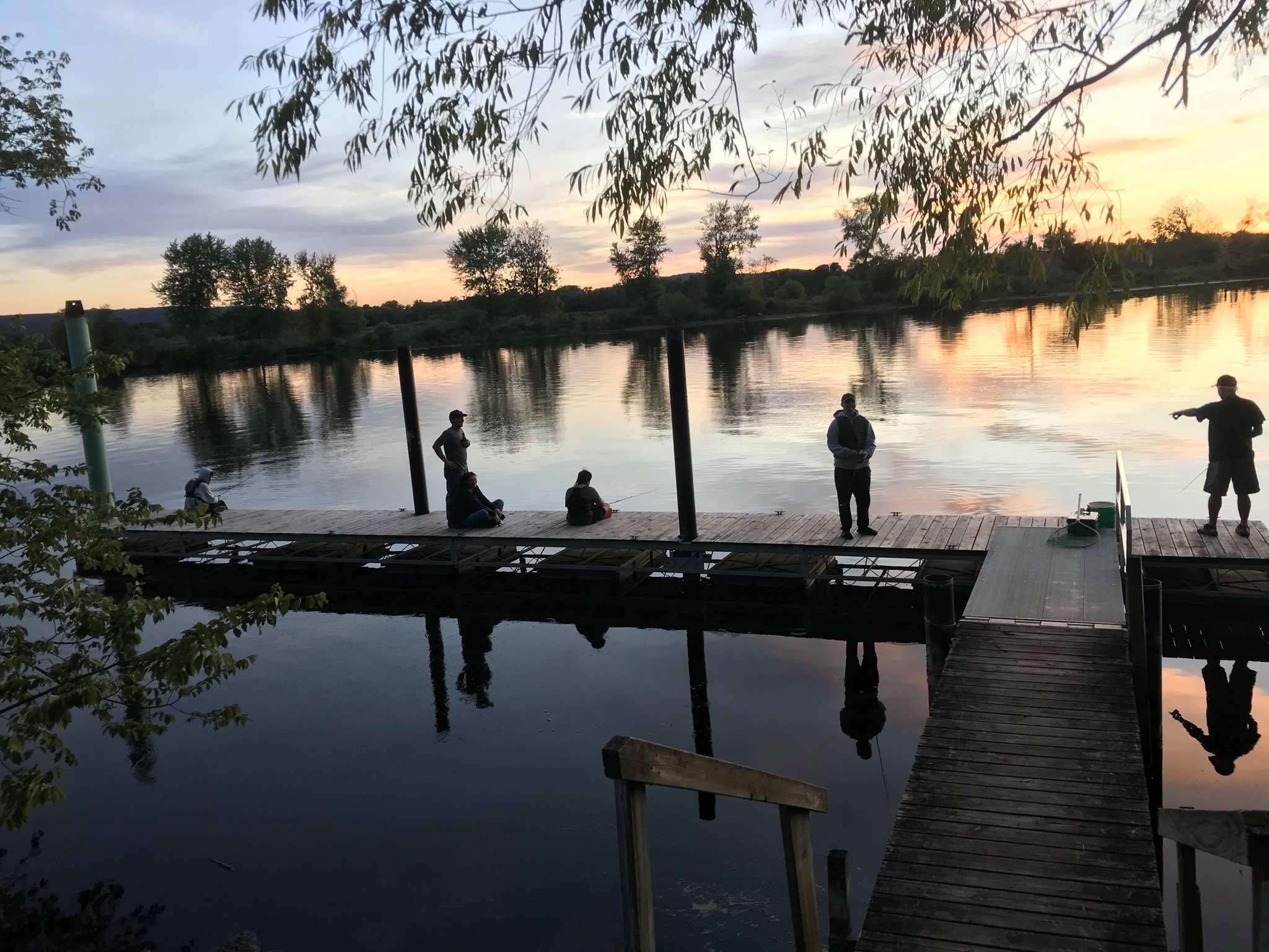 Fishing on the Big River Escape Dock